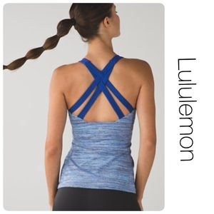 Lululemon Blue Strappy Tank 8